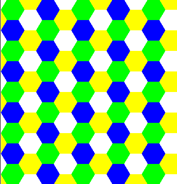 hexagon regular tessellation