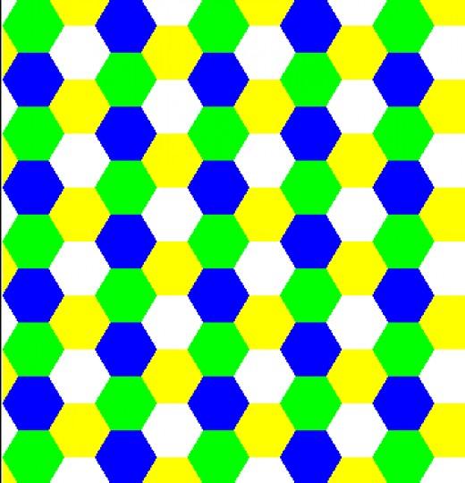 hexagon regular tessellation