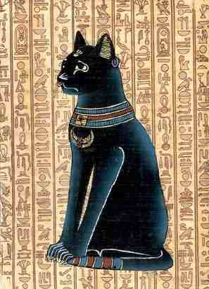 Depiction of the ancient Egyptian goddess, Bast
