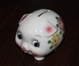 You taught me to save and brothers and sister too, You provided us each with piggy banks or so. We saved, we did and we were happy. When to the bank we laid our money,  I cried for I miss my beloved ceramic piggy.