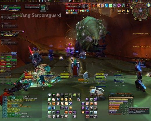 A player using a custom interface