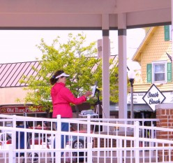 The Rehoboth Beach Bandstand gave Christine Heyse an elevated view of the boardwalk and ocean.