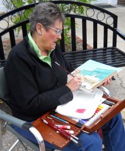 Arlene Matzkin absorbed in her work.