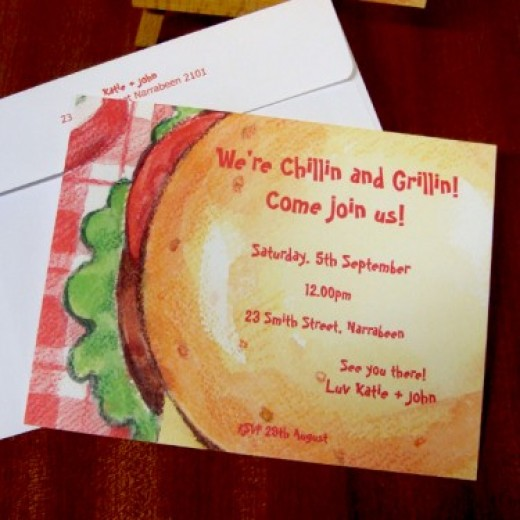 Simple BBQ invitation