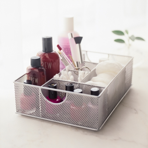 Place new cotton pads and swabs in a compartment by themselves and not with all your makeup.