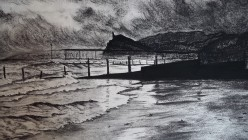 Passing Storm Charcoal on paper