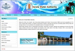 How to do payment of  Kerala water authority (kwa) bill online in Trivandrum?