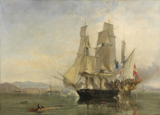 The battle between HMS Speedy and El Gamo