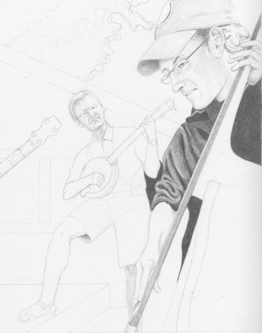 Jam Session, Pencil 10 x 8""