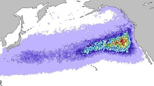 "NOAA's projection of the monster in the ocean. The  whole west coast may get literally ""trashed""."