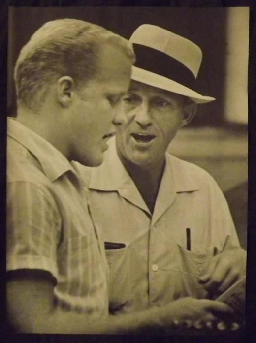 1958 Vintage Print--Bing Crosby Mentoring Son, Phil, in Musical Debut