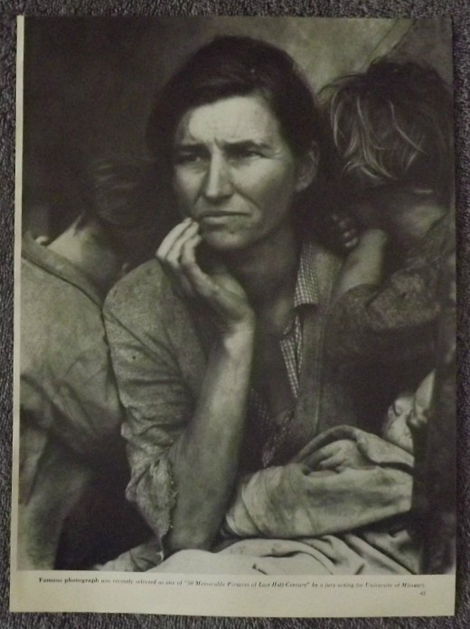 "1960 Vintage Print--""Migrant Mother"" by Photographer Dorothea Lange"