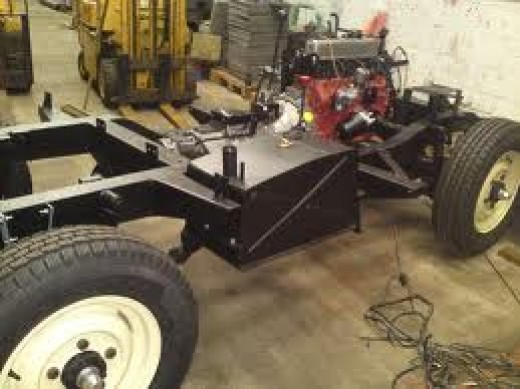Under that body is a (hopefully) galvanised steel chassis, this is a short-wheelbase 'Landie'. The galvanising process prolongs the life of the chassis and with it the vehicle