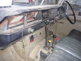 Series III Cab Interior. My first one was a short-wheelbase conversion from a 'hard-top' (delivery van) type estate with 90-style rear windows, painted in Masai Red with lime-white roof and wheels
