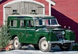 My second 'Landie' (GUK 694J) a petrol Long-wheelbase Series IIa, this colour green. This is pretty much how she looked. Handsome! I took her up north as well - with the family inside, of course! I've still got some of the pictures