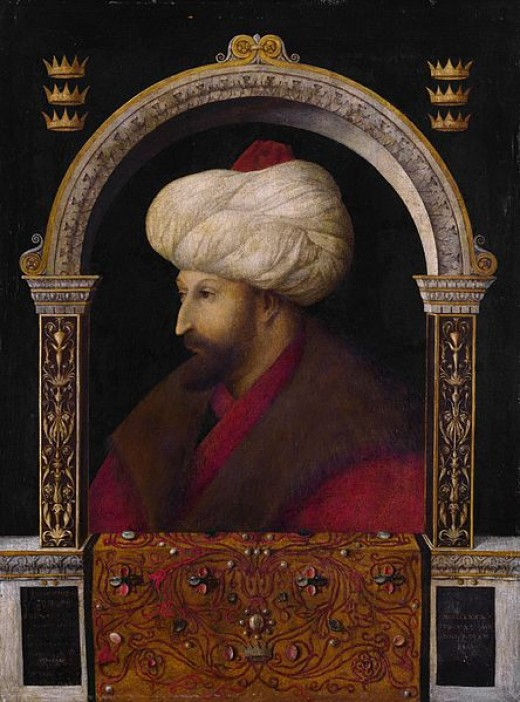Sultan Mehmed II, ruler of the Ottoman Empire.