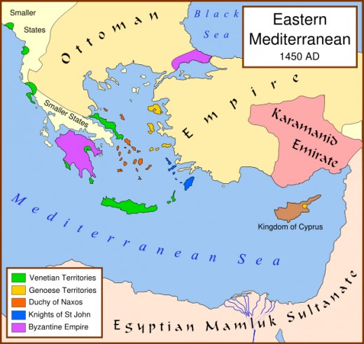 The Byzantine Empire was already in steep decline before the siege of Constantinople.