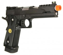 The WE Hi-Capa Dark Dragon V2, a gas powered airsoft pistol.