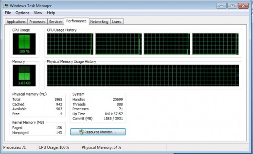 Check the task manager to see if a program or process is using up too much resources