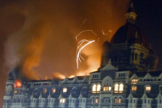 Taj on fire in Mumbai