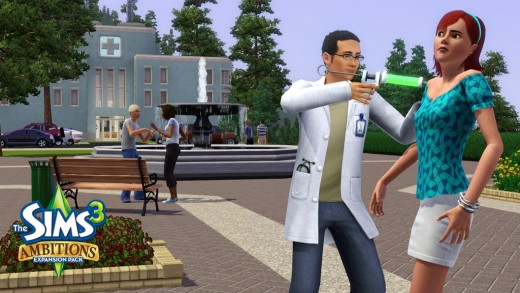 Your Sim could even be a mad scientist