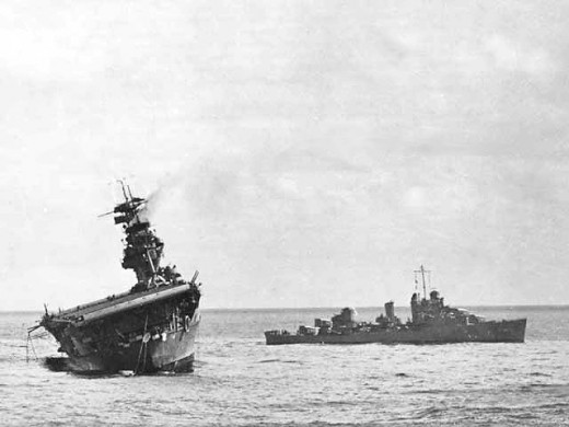 Sinking of the USS Yorktown at the Battle of Midway