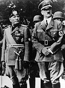 The Italian leader Mussolini with Hitler