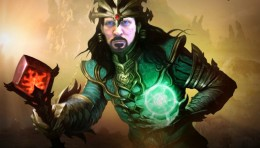 Me photoshopped into a Diablo 3 Wizard