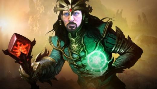 Me photoshopped into a Diablo 3 Wizard