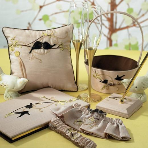 Love Birds Wedding Accessory Set