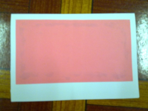 Paste the pink paper slightly higher.