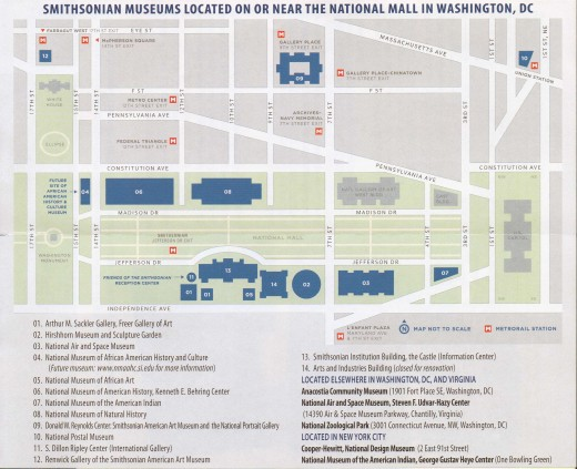 Map of the Smithsonian grounds.