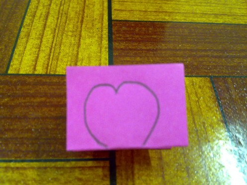 draw a heart, not full shape