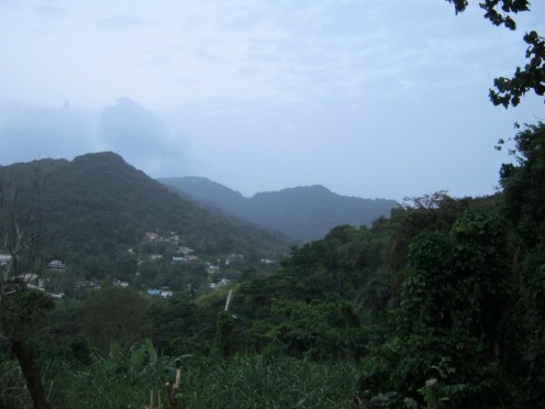 Looking toward Juncos, Puerto Rico