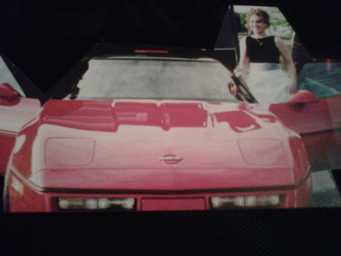 Gettin' ready for the senior prom '99. Thanks for letting me borrow the Vette, Daddy!