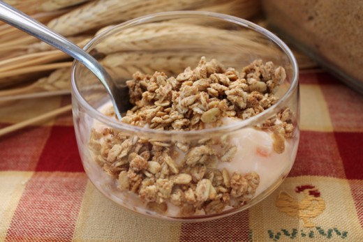 Organic Maple Crunch Granola on yogurt
