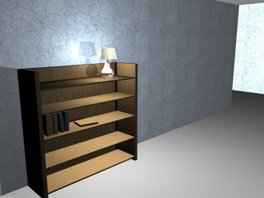 I wanted to create this book shelf so i could see how real i could make the scene look. I still need to work more on lighting and texture.