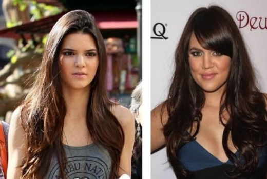 Kendall Jenner and Khloe Kardashian Look Alike