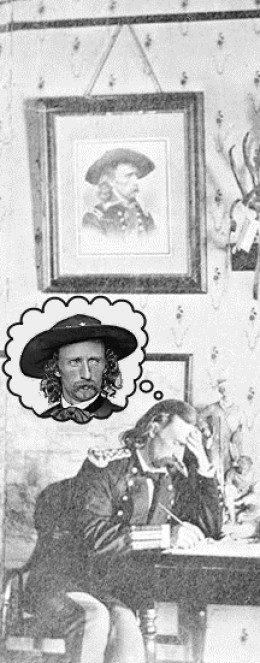 custer thinking about custer photograph