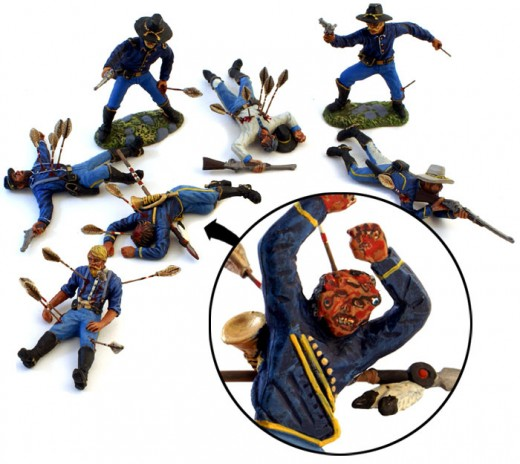 gruesome battle cavalry figurines