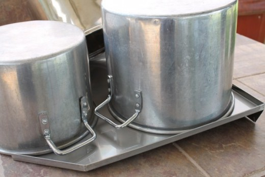 Holds large stock pots