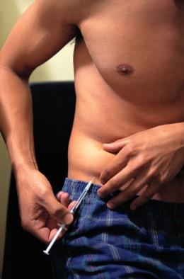 Avoid taking insulin injections