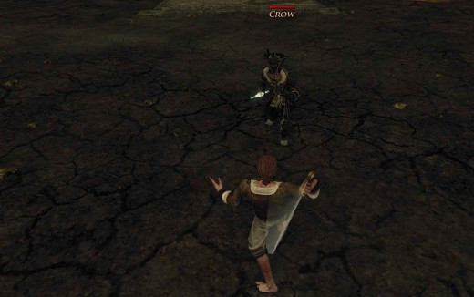 Risen 2 Fight Against Crow - the key is to relentlessly attack Crow as he retreats