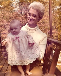 Baby Carla and Granny Annie - Indiana- June, 1976