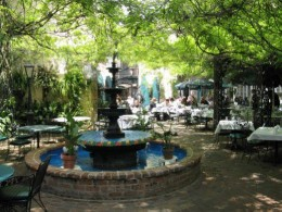 The outdoor court at the Court of Two Sisters - French Quarter - New Orleans