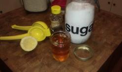 Organic DIY Homemade Sugar Honey Lemon Face and Body Wax