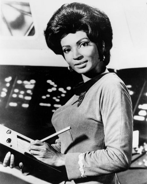 Grace (Nichelle) Nichols, Uhuru on Star Trek.