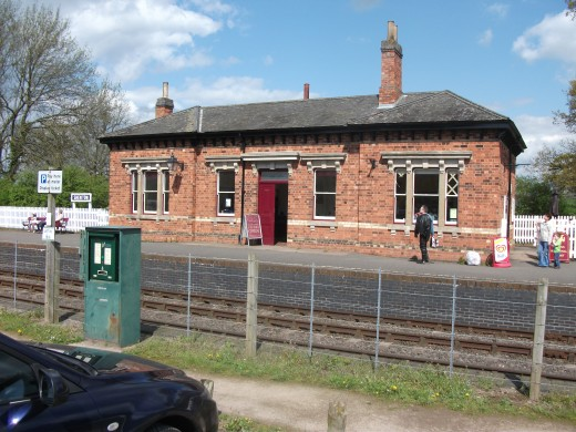 The former Humberstone Road Station in Leicester, rebuilt in Shenton