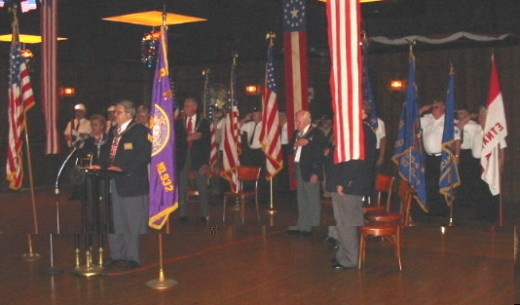 Flag Day Services where Scholarships are Awarded