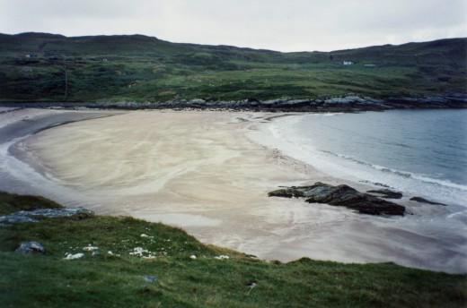 Clashnessie beach, west coast. One of many beautiful, deserted beaches along the north sea coast.